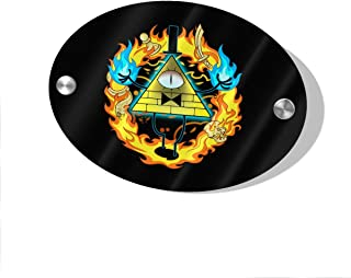 Layapan Door Sign Gravity Falls Bill Cipher Wall Decorative Signs Plaques for Offices Hotels Stores Home Decor