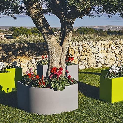MONACIS Vaso angolare Flowerpot Grigio