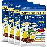 シードコムス 亜麻仁油 エゴマ油配合 DHA+EPA サプリメント 約12ヶ月分 360粒 青魚