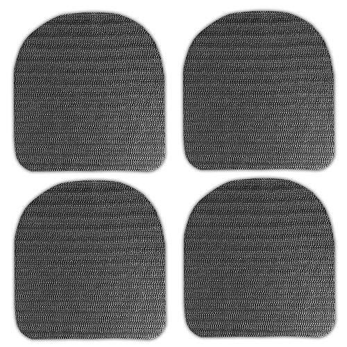HAC24 4X Antirutsch Unterlage für Sitzkissen Antirutschmatte Sitzauflagen Stuhlkissen