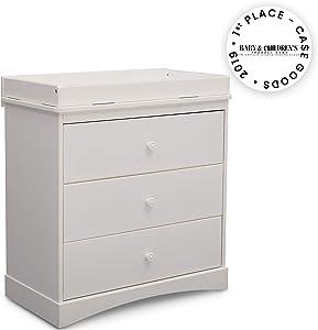 Delta Children Sutton 3 Drawer Dresser with Changing Top