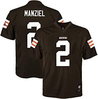 Outerstuff Johnny Manziel NFL Cleveland Browns Mid Tier Home Brown Jersey Boys SZ (4-7)