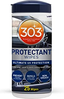 303 (30397) Products Automotive Protectant Wipes - Ultimate UV Protection - Prevent Fading and Cracking - Repels Dust, Lin...