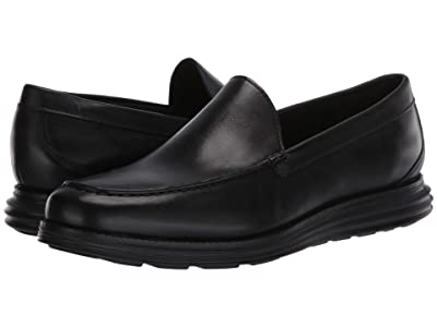 Cole Haan Original Grand Venetian (Black Leather/Black) Men