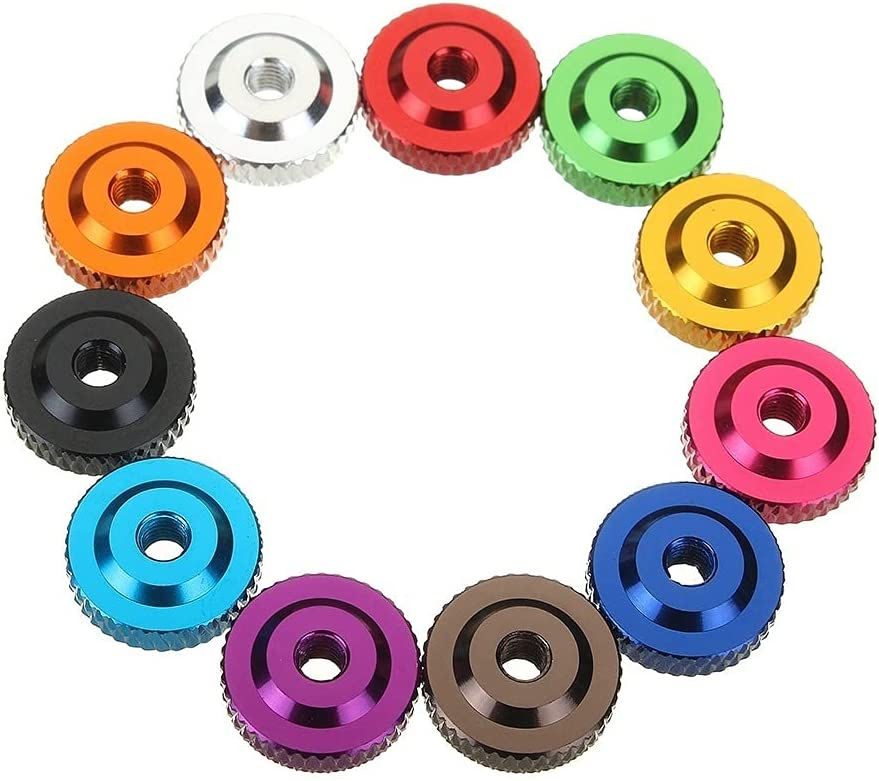 LWCHJ 10Pcs M3 Knurled Max 48% OFF Thumb Nut Spacer Screw Washer w Cheap super special price Collar Al