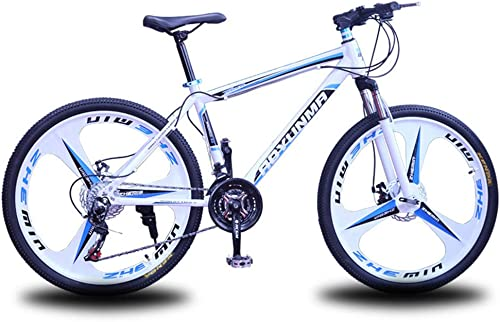 Web oficial Xiaochao Bicicleta Bicicleta Bicicleta De Montaña, Bicicleta De Velocidad Variable con Cuadro De Acero De 27 Velocidades, Bicicleta De Carretera De Una Rueda De 26 Pulgadas,blancoazul  gran venta