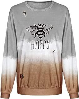 Women's Long Sleeve Loose Fit Gradient Color Sweatshirt Pullover Top