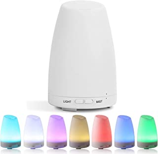 Ultrasonic Humidifier Essential Oil Diffuser Cool Mist Aromatherapy 7 Color LED Light for Home Bedroom Living Room Study Yoga,AU