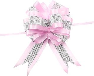 ROSENICE 10pcs Cadeau Nœud pour fête mariage voiture fleurs décoration (Rose)