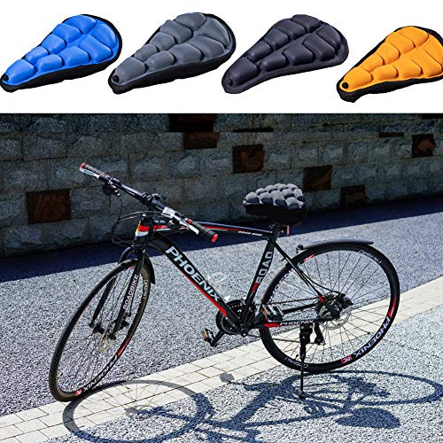 SPECIAL MADE 3D Bike Seat Air Bicycle Seat Cushion Bike Saddle Cover Comfortable Replacement,Shock Absorbing Comfort for Mountain Bike, Hybrid and Stationary Exercise Bike (Grey)