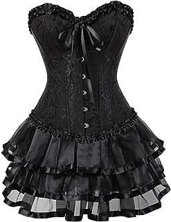 Women Halloween Costume Gothic Victorian Corsets Burlesque Dresses Moulin Rouge
