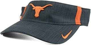 new arrival a033a a3ae2 NCAA Texas Longhorns Visor Hat Cap - Charcoal