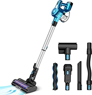 INSE Cordless Vacuum Cleaner, 23KPa Powerful Suction Stick Vacuums, Handheld Bed Vac Rechargeable 2500mAh for Pet Hair Har...