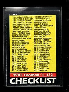 1985 topps checklist