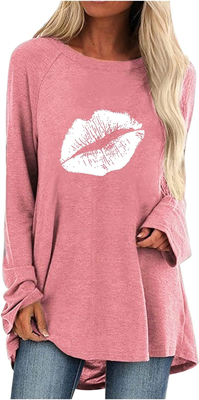 Womens Long-Sleeved T-Shirt, Casual O-Neck Prints Tops Shirt Printing Blouse Pullover
