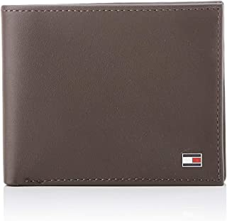 Tommy Hilfiger Men's Eton Small Embossed Bifold Wallets, Brown, One