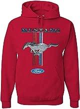 Ford Mustang Classic Hoodie GT Cobra Boss 302 Mach 1 Sweatshirt Red