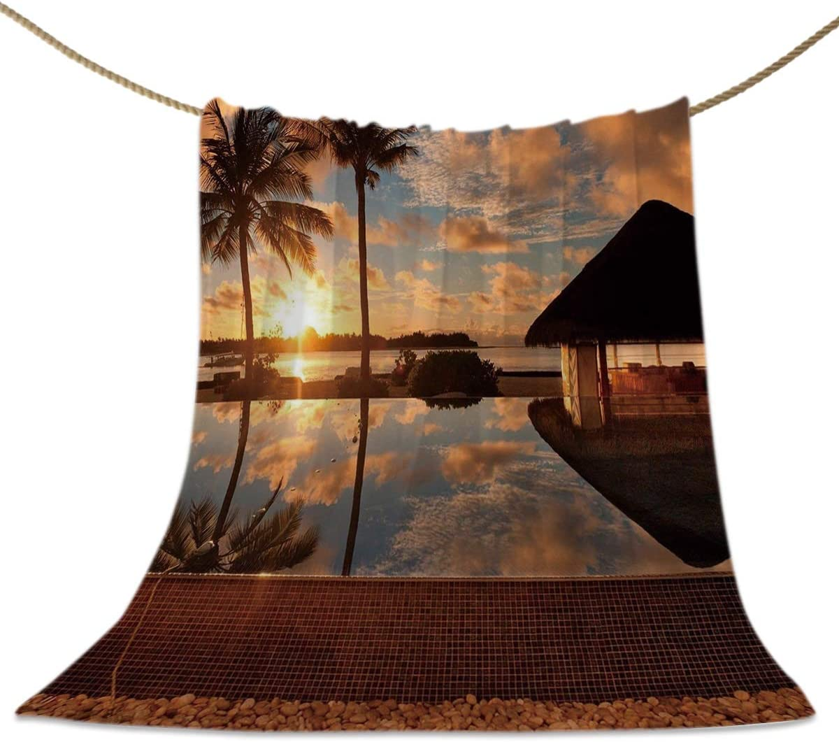 Limited Special Price HELLOWINK Throw Blankets for Couch Max 43% OFF Bed F Flannel Tropical Sofa