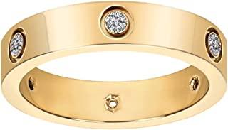 زنان کلاسیک 18K طلای روکش طلای تیتانیوم حلقه بهترین هدیه زوج های روز ولنتاین