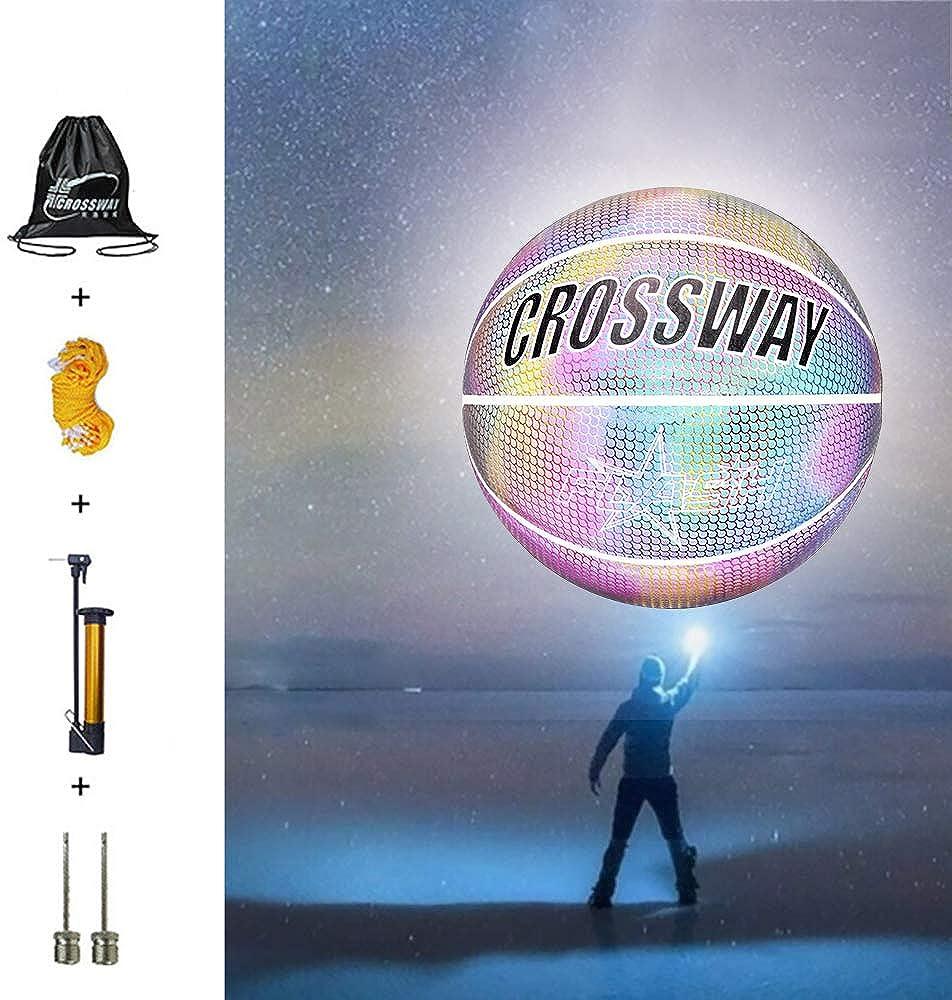 Vingtank Holographic Regular store Superlatite Glowing Reflective Standard Basketball No.