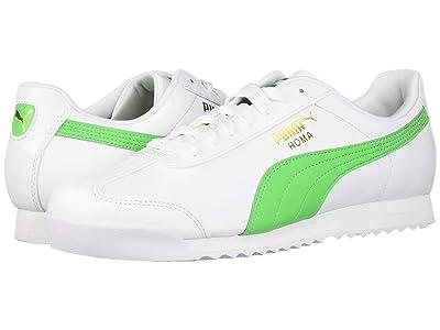 PUMA Roma Basic + (Puma White/Irish Green) Men