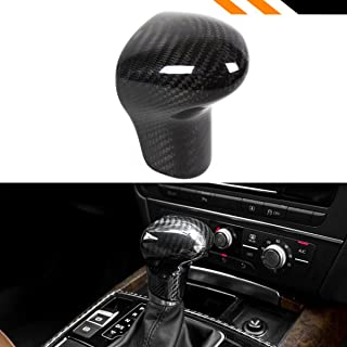 Cuztom Tuning Fits for 2013-2016 Audi A4/Q5/Q7 & 2012-2016 A5 & 2012-2015 A6 Direct Add-on Real Carbon Fiber Auto Shift Gear Knob Cover