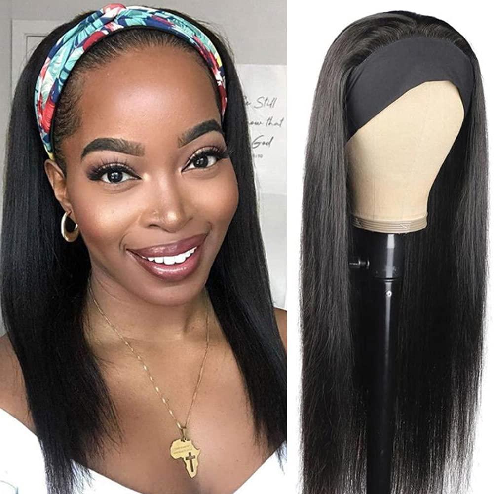 Straight Headband Wig trust Human Virgin Hea Outstanding Brazilian Hair