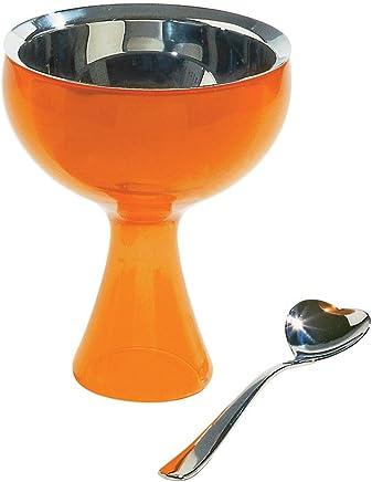 A di Alessi Big Love Bowl and Spoon, Orange