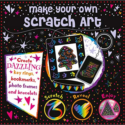 XCH Scratch Art Set for Kids - 59 Pcs Rainbow Magic Scratch Paper Craft Kits for Girls Boys Toys Birthday