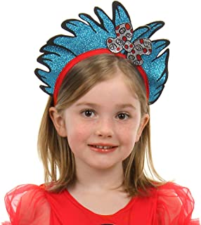 Dr. Seuss Cat in The Hat Thing 1 & 2 Costume Glitter Headband Blue