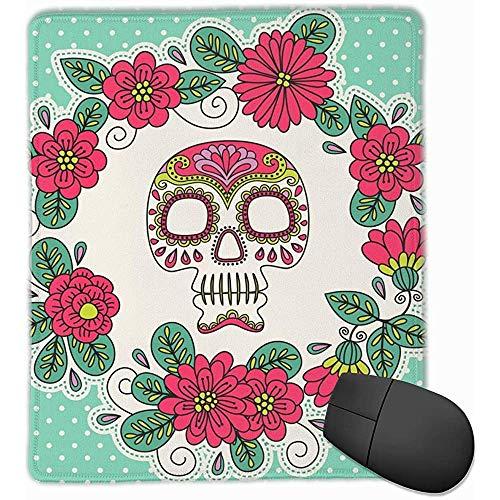 Muis Pad Sjabloon Kaarten Uitnodigingen Mexicaanse Dag Dode Medium Doek Oppervlak Mousepad