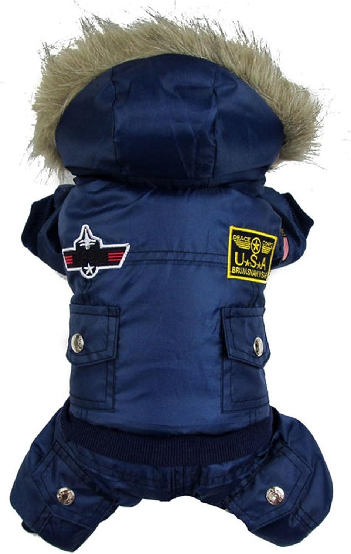 Fenta Winter Warm Small Dog Pet Waterproof Coat Padded Hoodie Jumpsuit Pants Apparel