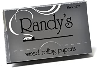 Randys Wired 1 1/4 Rolling Papers 79mm x 45mm Pack of 1,3,10 or full Case (Single Pack)