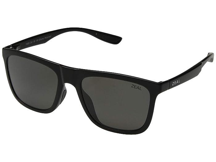 Zeal Optics  Boone (Matte Black/Polarized Dark Grey Lens) Fashion Sunglasses