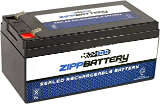 Chrome Battery 12V 3.5AH SLA Battery - Rechargeable, T1 Terminals, 2.8 Lbs
