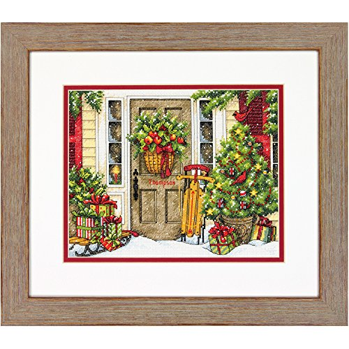 Dimensions 70-08961 Counted Cross Stitch Kit, Christmas Home, 14 Count White Aida Cloth, 10' x 8'