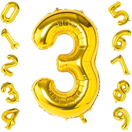 Gold Number 11 Balloons,40 Inch Birthday Number Balloon Party Decorations Supplies Helium Foil Mylar Digital Balloons Gold Number 11