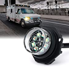 Xprite LED Hideaway Strobe Lights Emergency Hazard Warning Light Bulb Kit for Police Vehicles Trucks Cars - White & Amber/Yellow