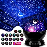 MOKOQI Star Projector Night Lights for Kids, Gifts for 1-4-6-14 Year Old Girl and Boy, Room Lights for Kids, Glow in The Dark Stars and Moon can Make Child Sleep Peacefully and Best Gift - Black