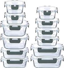 LYTIO - Juego de 24 Piezas recipientes herméticos y a prueba de fugas reutilizables resistentes a manchas y olores con tap...