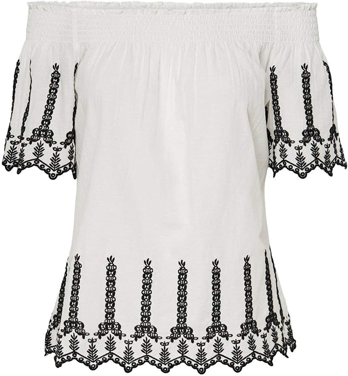 Only Onlshery Contrast Emb Ang Dnm Top Blusas para Mujer
