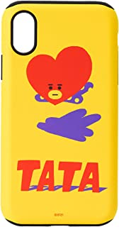BT21 Official Merchandise by Line Friends - TATA Character Design Dual Layered Case for iPhone X Case, Yellow