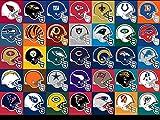 The Museum Outlet Listen von SL NFL Helm-Logos, A3,