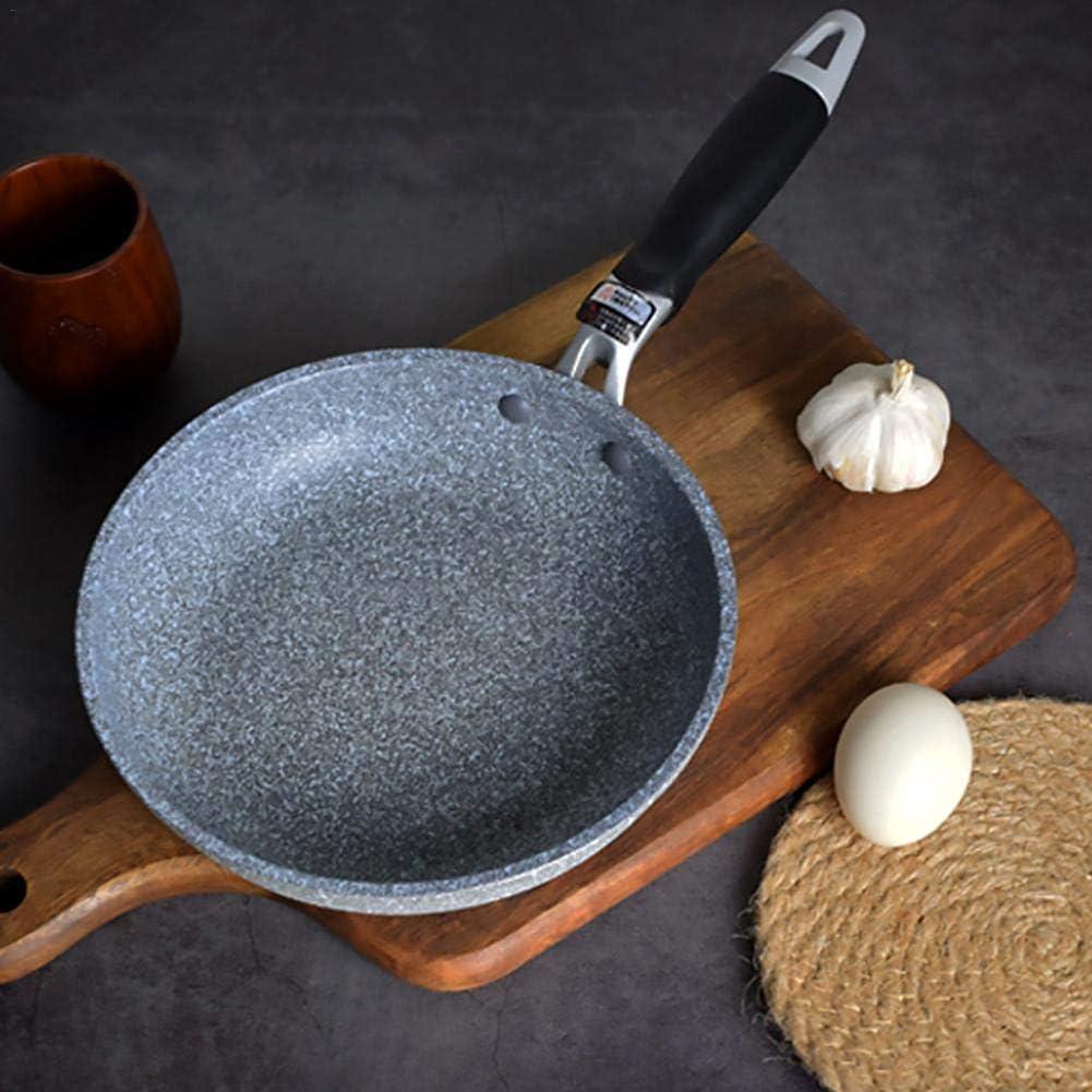 Sauteuse Antiadhésive 24CM, Aluminium Forgé Casseroles en Pierre, Revêtement de Granit, Poêle à Omelette Casseroles à Induction. (Gris) 24 Cm Sauteuse
