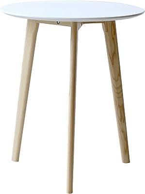 3244(ミツヨシ) カフェテーブル ミニマム サイドテーブル ラウンドテーブル 丸テーブル 円形60㎝ φ60 600mm MTS-145 (WH ホワイト)