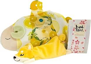 【爽やかなくつろぎタイム】レモンおやすみ羊 涼感お昼寝まくら・「柴犬」アイピローと「おつかれさま」入浴剤のセット
