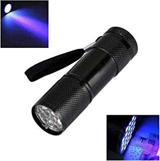 Minilinterna de 9 LED UV, ultravioleta, luz negra, lámpara