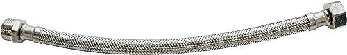 SOMATHERM FOR YOU - Flexible sanitaire raccordement Mâle droit 12/17 (3/8') - écrou tournant droit Femelle 12/17 (3/8...