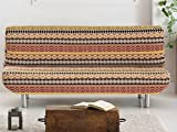 Lanovenanube - Funda Sofa Cama Kilim Clic clac Color Marrón C07