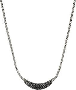 Classic Chain Arch Necklace with Black Sapphire and Black Spinel